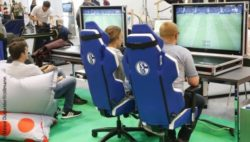 Photo: eSports area at REHACARE 2018; Copyright: Messe Düsseldorf/ctillmann