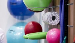 Photo: Several colorful balls and massage rolls