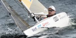 Photo: Heiko Kröger sailing in his boat