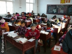 Photo: School class in rural China