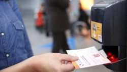 Foto: eTicket- and barcode scanner at the entry