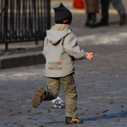 Photo: Child running away