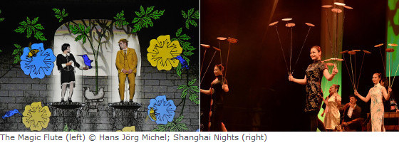 The magic flute (left), Shanghai Nights