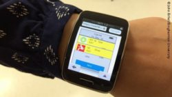 Photo: Smartwatch app for nursing homes; Copyright: John Brhel/Binghamton University