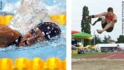 Photo: Kirsten Bruhn swimming, Markus Rehm jumping