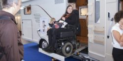 Photo: Wheelchair ramp in a camping van; Copyright: Messe Düsseldorf