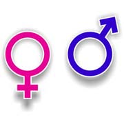 Symbols for male and female