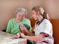 Photo: Caregiver with elderly woman
