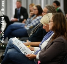 Photo: Audience during an exhibitor lecture