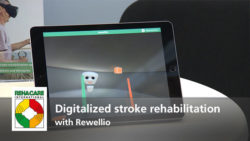 "Photo: Preview ""Digitalized stroke rehabilitation with Rewellio"", linked to video"