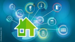 Image: Graphic showing a house and several smart home based icons; Copyright: PantherMedia/pol_1978