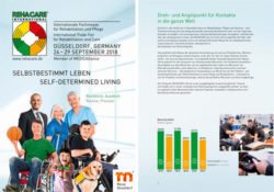 Image: Cover and second page of the information brochure REHACARE 2018