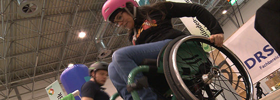 "Photo: Title photo - linked to the video ""Using sports to promote inclusion""; Copyright: REHACARE.de"