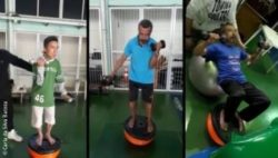 Foto: Some of the exercises which mitigate freezing-of-gait; Copyright: Carla da Silva Batista