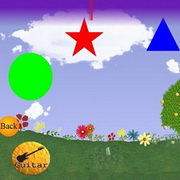 Photo: Screenshot of the game with shapes and flowers