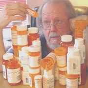 Photo: Man within lots of medication