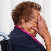 Photo: Elderly woman in a wheelchair