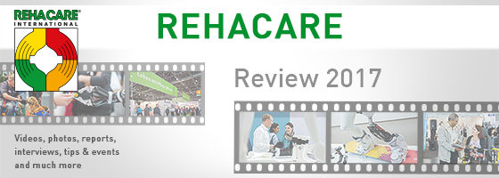 Graphic: REHACARE 2017 review; Copyright: Messe Düsseldorf