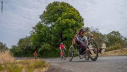 Photo: Josh Dueck handbiking; Copyright: OI Canada