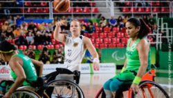 Photo: The German Women's Wheelchair Basketball team at the preliminary game against Brasil at the Paralympics 2016; Copyright: Andi Weiland | Gesellschaftsbilder.de