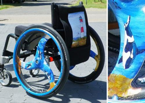 Foto: Wheelchair with themes of the sea
