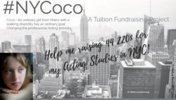 Photo: Appeal to donate money for Cocos project #NYCoco; Copyright: Heike Rost/#NYCoco
